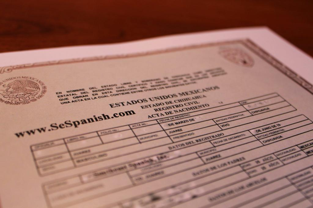 Spanish to english birth certificate translation for uscis sample of mexican birth certificate translation from spanish yadclub Choice Image
