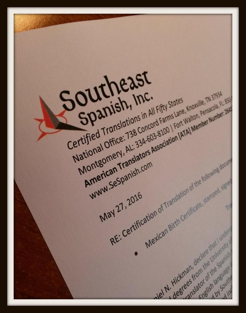 Document translation in montgomery southeast spanish inc translation in montgomery alabama xflitez Images